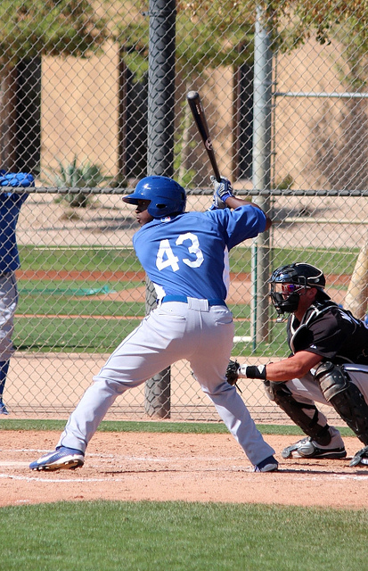 O'Koyea Dickson at spring training 2012, by Dustin Nosler
