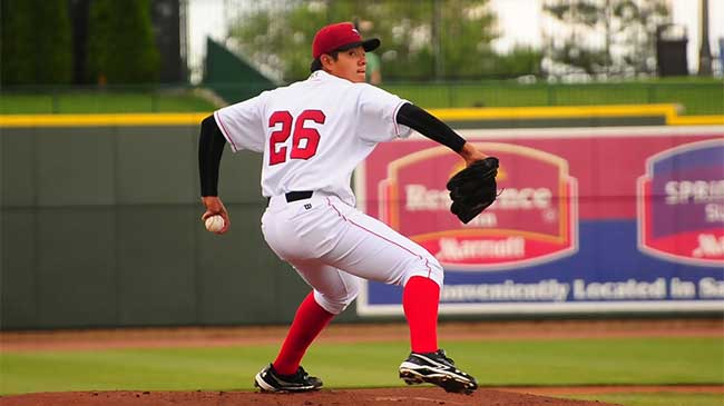 17 and the #1 prospect. (Photo via Nick Anderson, Great Lakes Loons)