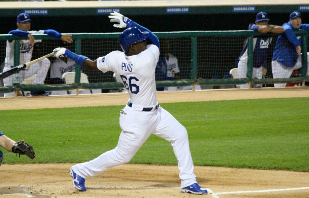 Is there any doubt who the Dodgers' right fielder will be in 2017? (By: Dustin Nosler)