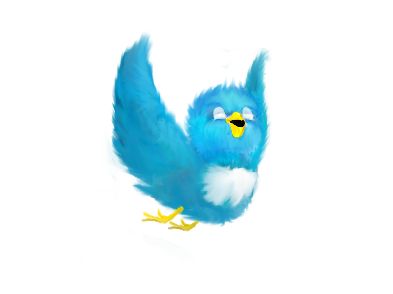 Twitter bird happy