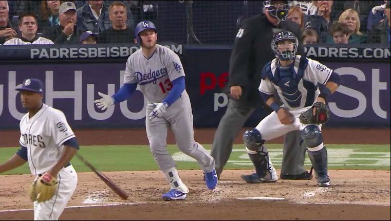 christian singles in muncy Machado's second hit then set up max muncy's run-scoring double off taylor williams (0-3)  christian yelich hit a two-run triple in the ninth, but jansen struck out aguilar for the final.