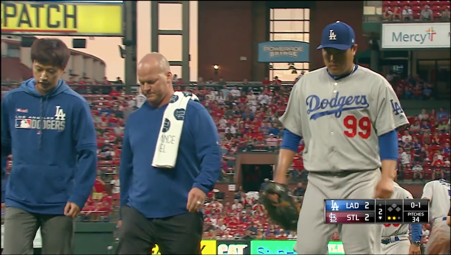 a2d884e0 Cardinals 4, Dodgers 3: No dongs and Ryu injured – Dodgers Digest