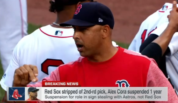 MLB Punishes Red Sox In Sign Stealing Scandal